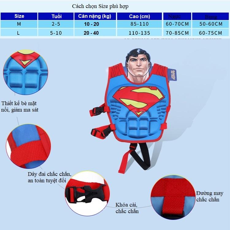 Phao bơi trẻ em, áo phao bơi  IRON MAN (Bé từ 2 - 10 tuổi) - POKI