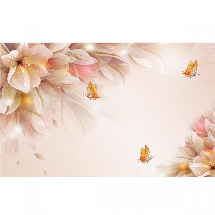 Decal hoa trang trí tường 3DH858