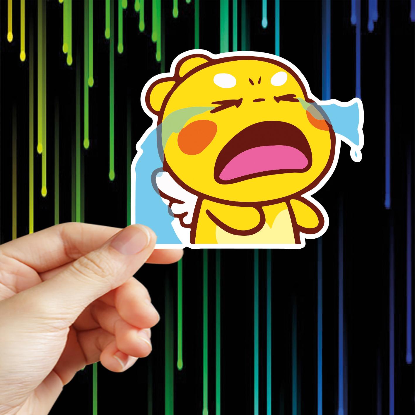 24 Hình Dán Tem Rồng Con chủ đề Good Night , Sticker được cắt sẳn bằng máy chỉ lột dán, chống nước dùng trang trí nón bảo hiểm, xe máy, laptop, điện thoại....