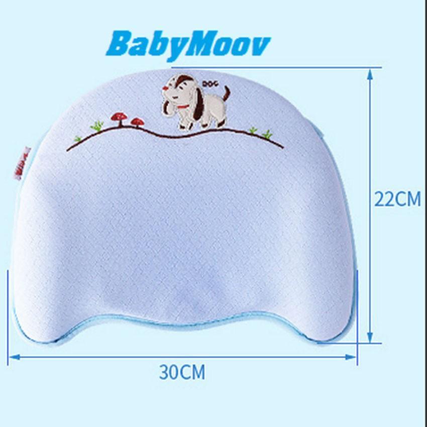 Gối cao su non 3D chống bẹp đầu thêu họa tiết cho bé rất êm