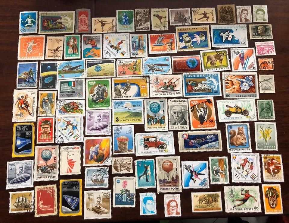Bộ 80 con tem thế giới khổ lớn khác nhau, giao đúng như hình