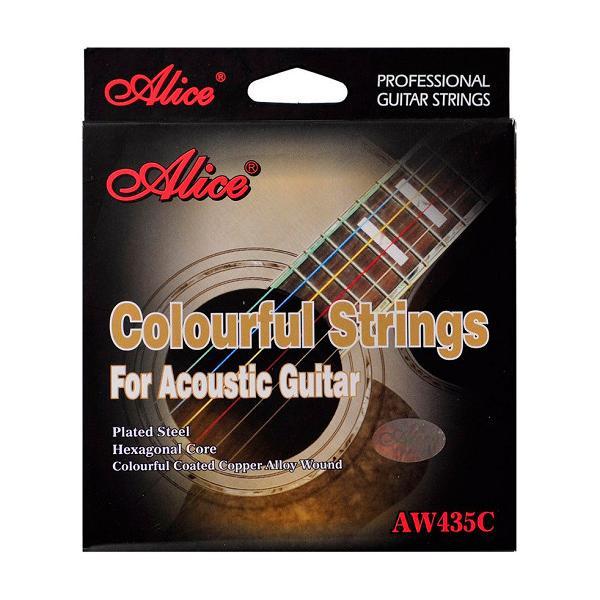 Dây Đàn Guitar Acoustic Alice KBD AW435C - Nhiều Màu