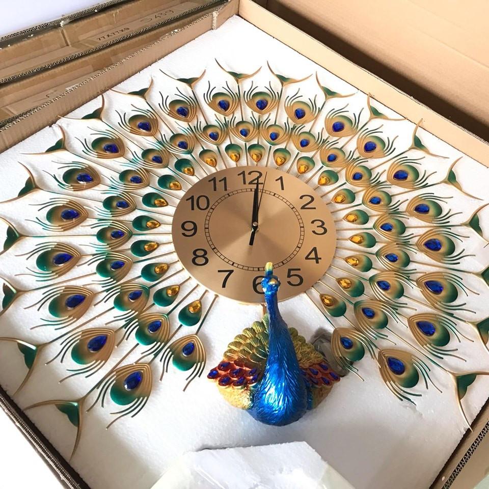 Đồng hồ trang trí chim công phú quí DHS439