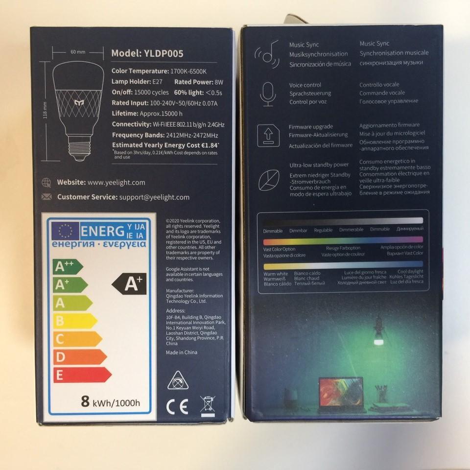 Bóng đèn Led thông minh Xiaomi Yeelight Bulb W3 đui xoắn E27 (RGB 16 triệu màu) - tích hợp Razer Chroma