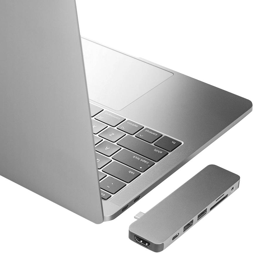 Cổng Chuyển Hyper HyperDrive SOLO 7-in-1 USB-C Hub For MacBook, PC, Devices - Hàng Chính Hãng