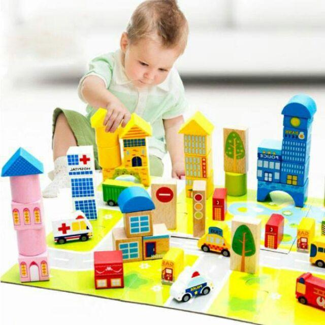 Bộ xếp hình thành phố tương lai