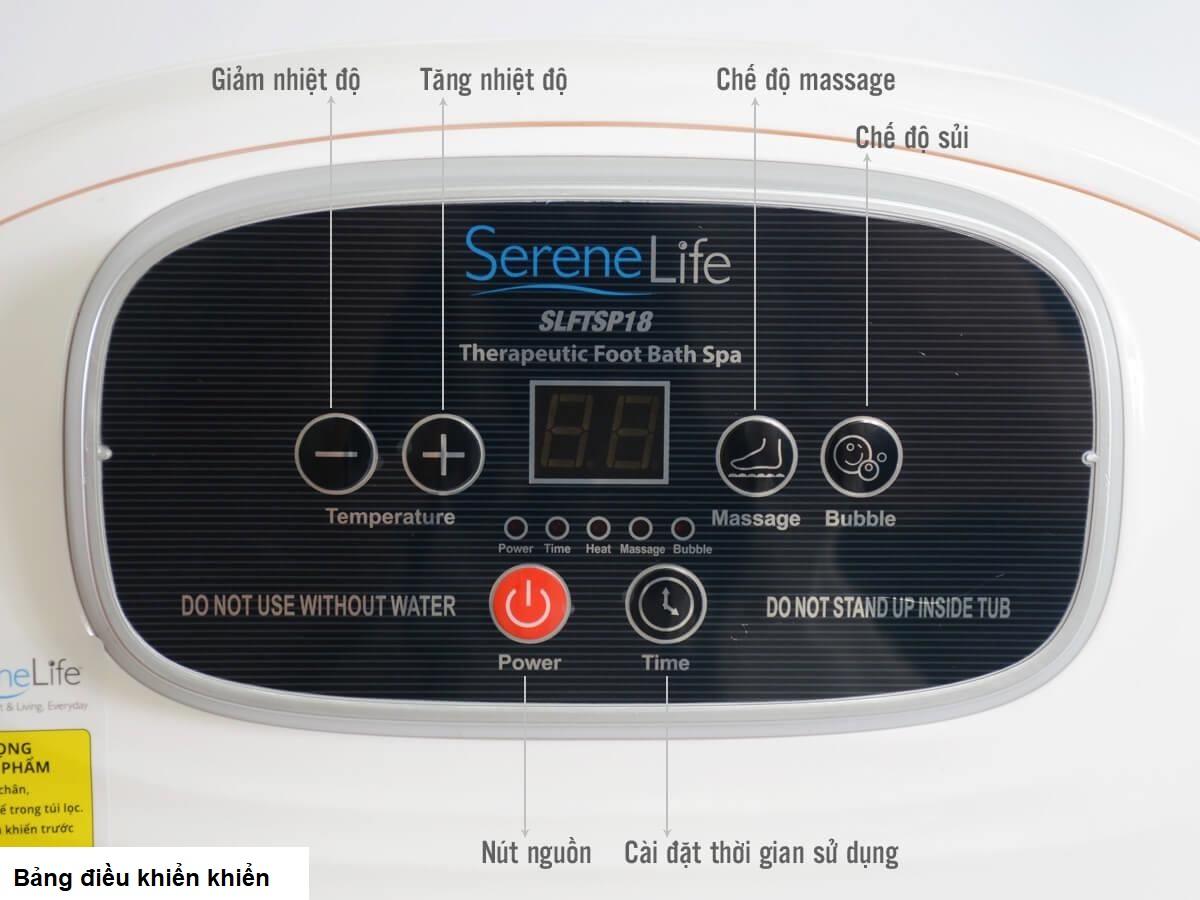 Bồn ngâm chân massage cao cấp USA 4 con lăn tự động Serenelife SLFTSP18 nhập khẩu