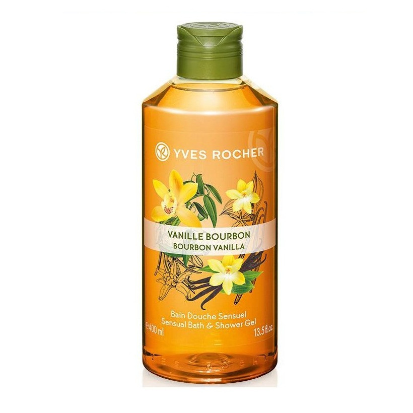 Gel Tắm Hương Vani Yves Rocher Bourbon Vanilla Sensual Bath & Shower Gel 400ml