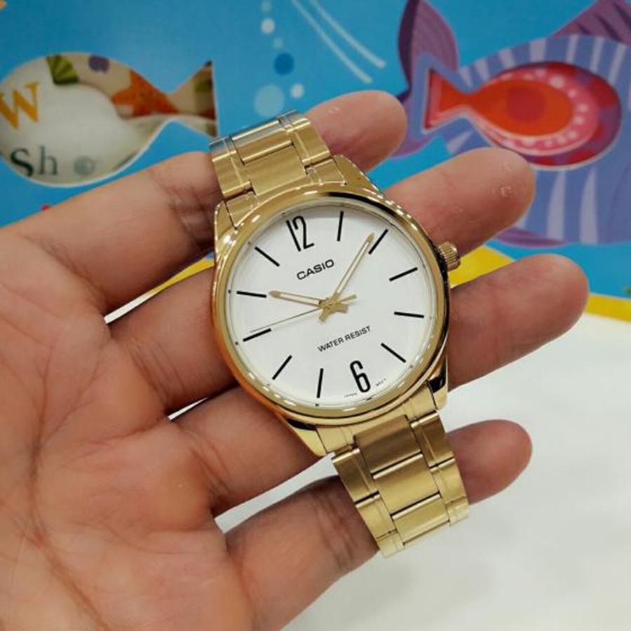 Đồng hồ nam dây kim loại Casio MTP-V005G-7BUDF