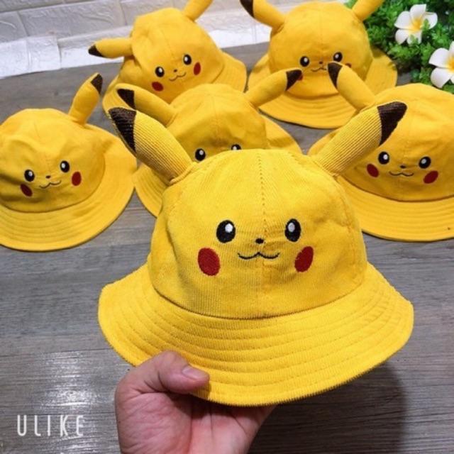 Nón tai bèo Pikachu hàng cao cấp cho bé trai bé gái 2-5 tuổi