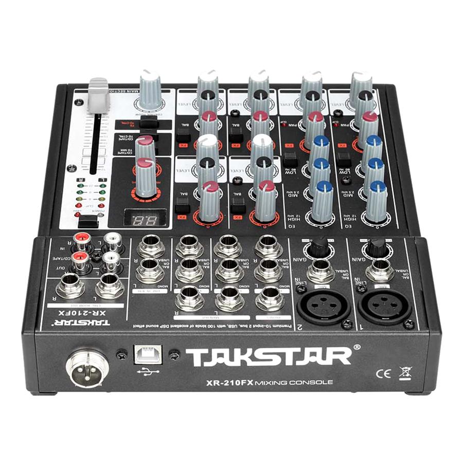 Mixer Thu Âm USB 10 Cổng Có Effect Takstar XR-210FX – Hàng Chính Hãng