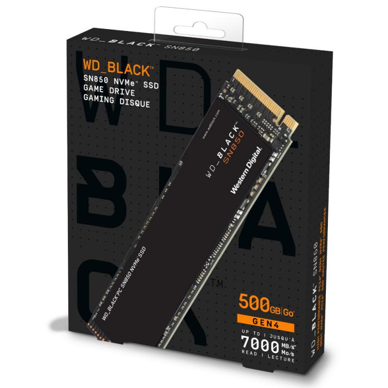 Ổ cứng SSD WD Black SN850 500GB M.2 PCIe 4.0 WDS500G1X0E - Hàng Chính Hãng