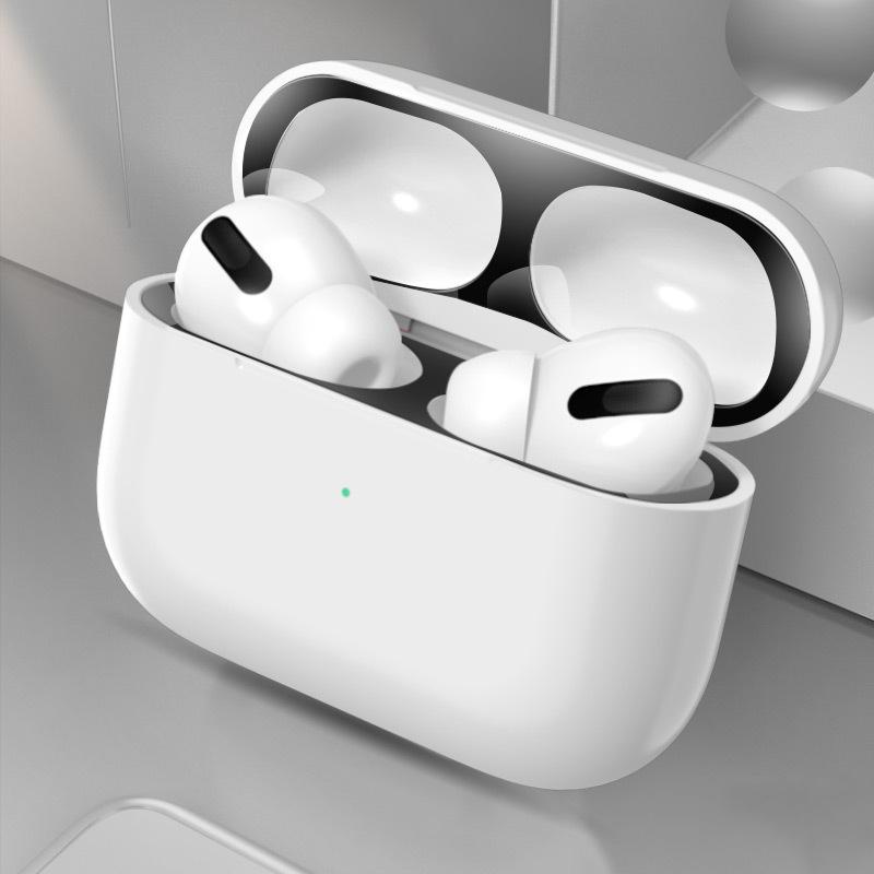 Miếng Dán Kim Loại Siêu Mỏng Chống Bụi Cho Case Airpods Pro