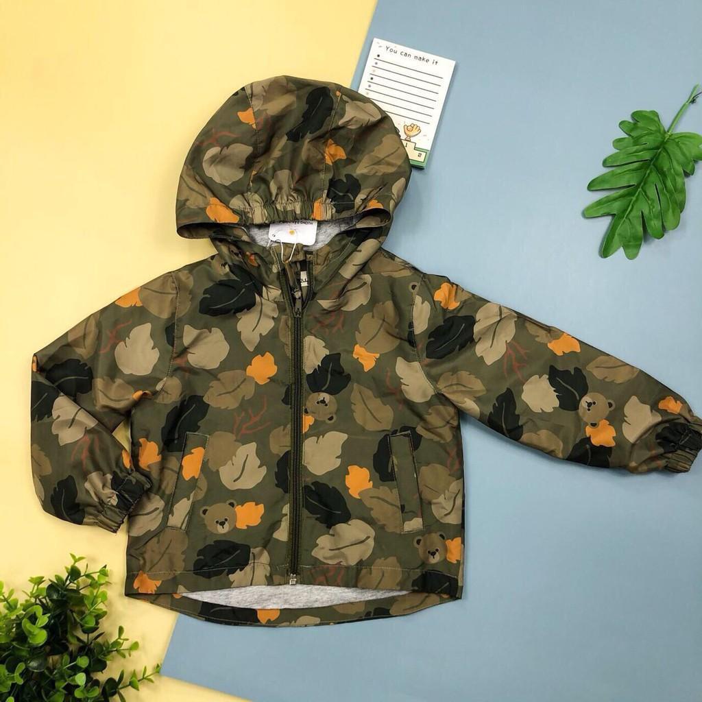 Áo gió 2 lớp cho bé trai size 6-10T, chất bền đẹp, lót cotton mềm  mịn