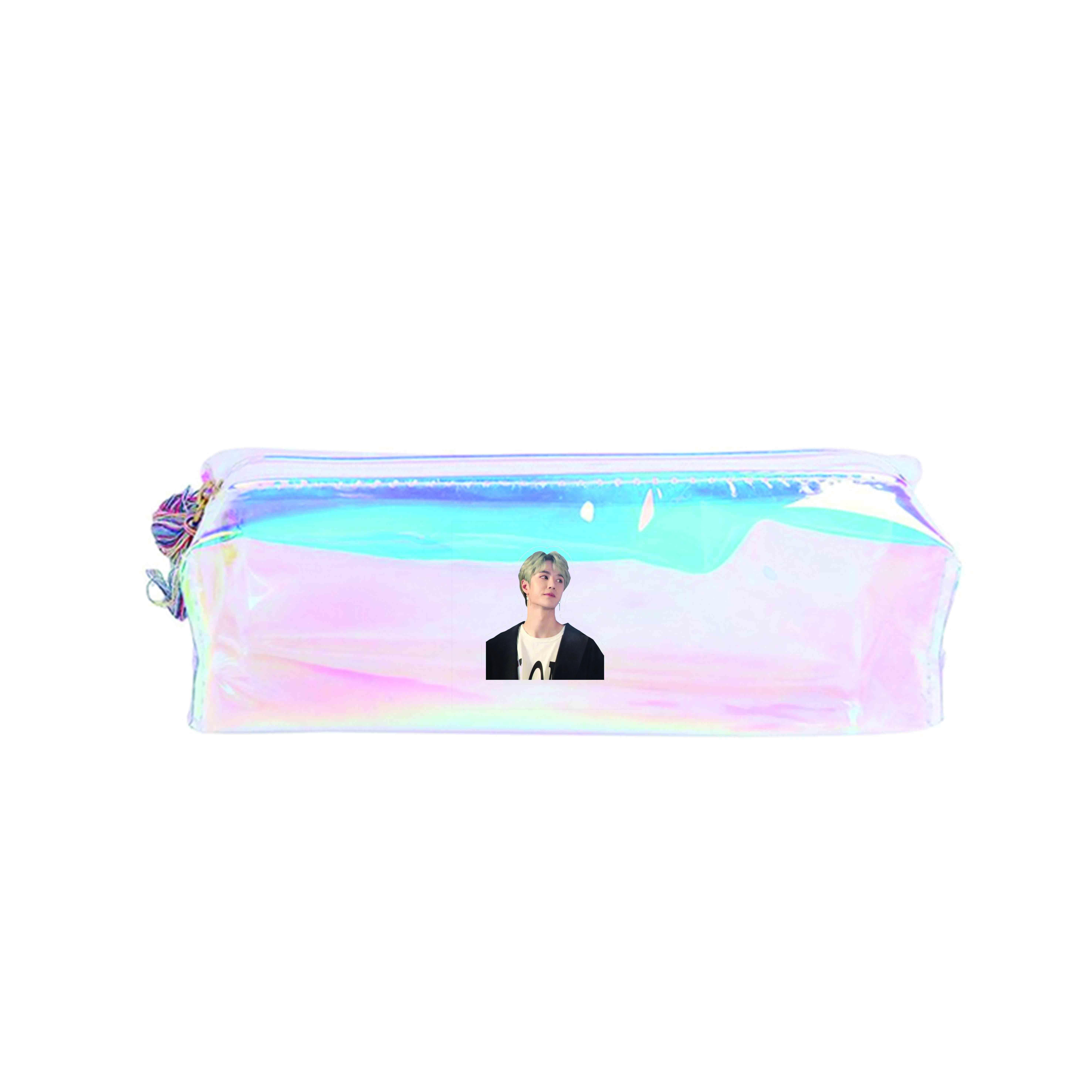 Hộp bút trong hologram IN HÌNH Vương Nhất Bác thần tượng diễn viên dụng cụ học tập