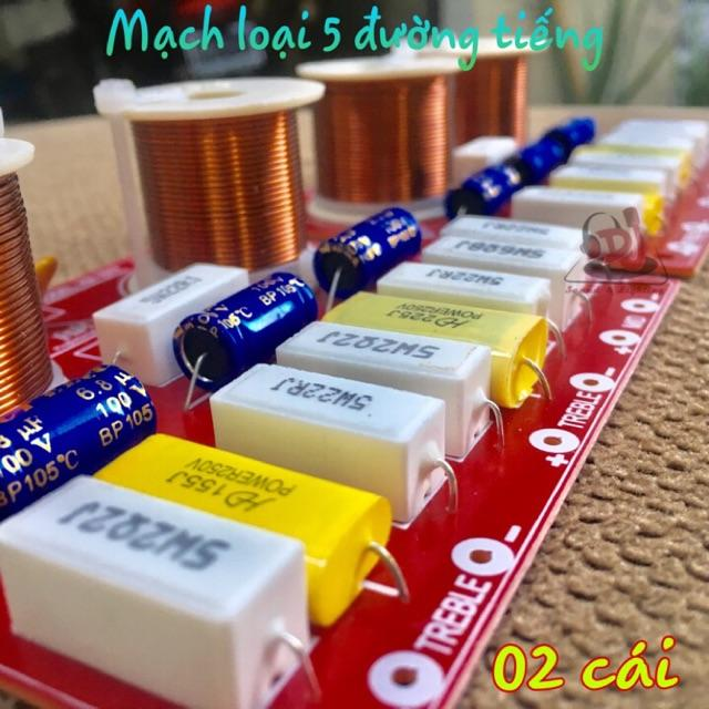 Mạch lọc loa 5 đường tiếng mạch phân tần loa 02 cái