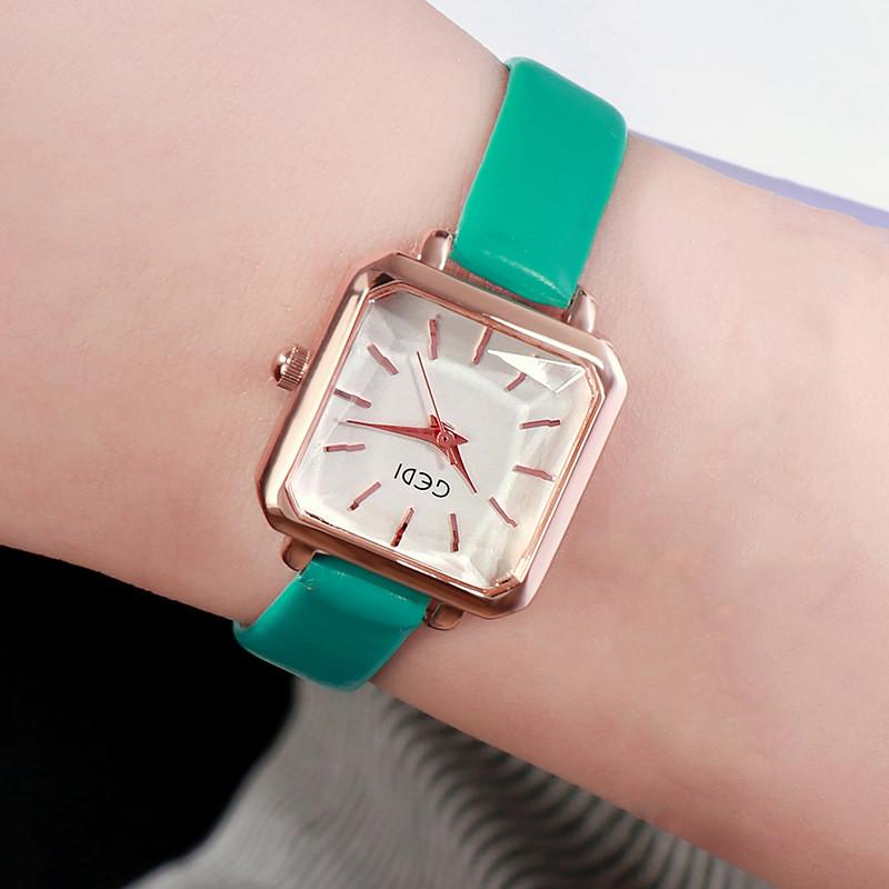 Đồng hồ nữ GEDI mặt vuông xinh - Hàng chính hãng