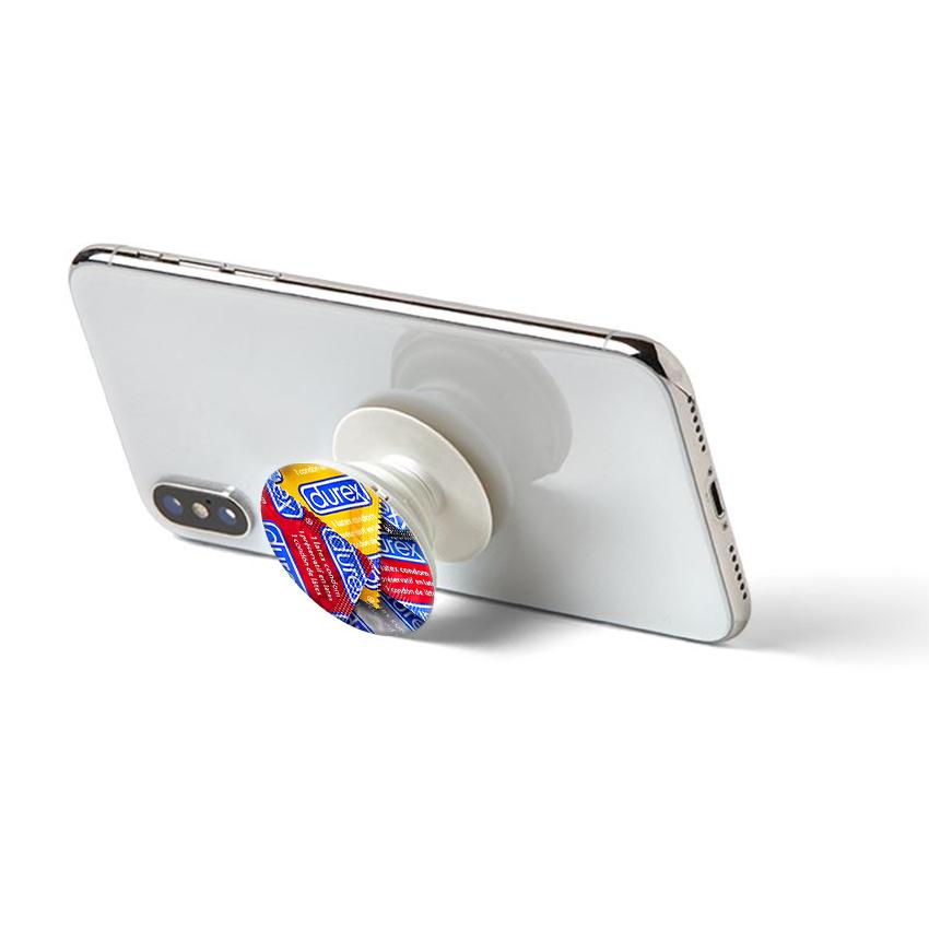 Gía đỡ điện thoại đa năng, tiện lợi - Popsockets - In hình DUREX - Hàng Chính Hãng