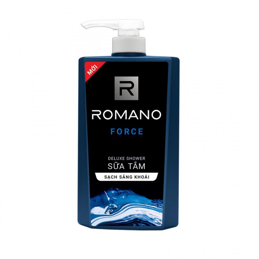 Sữa tắm cao cấp Romano Force mạnh mẽ tự tin sạch sảng khoái 650gr