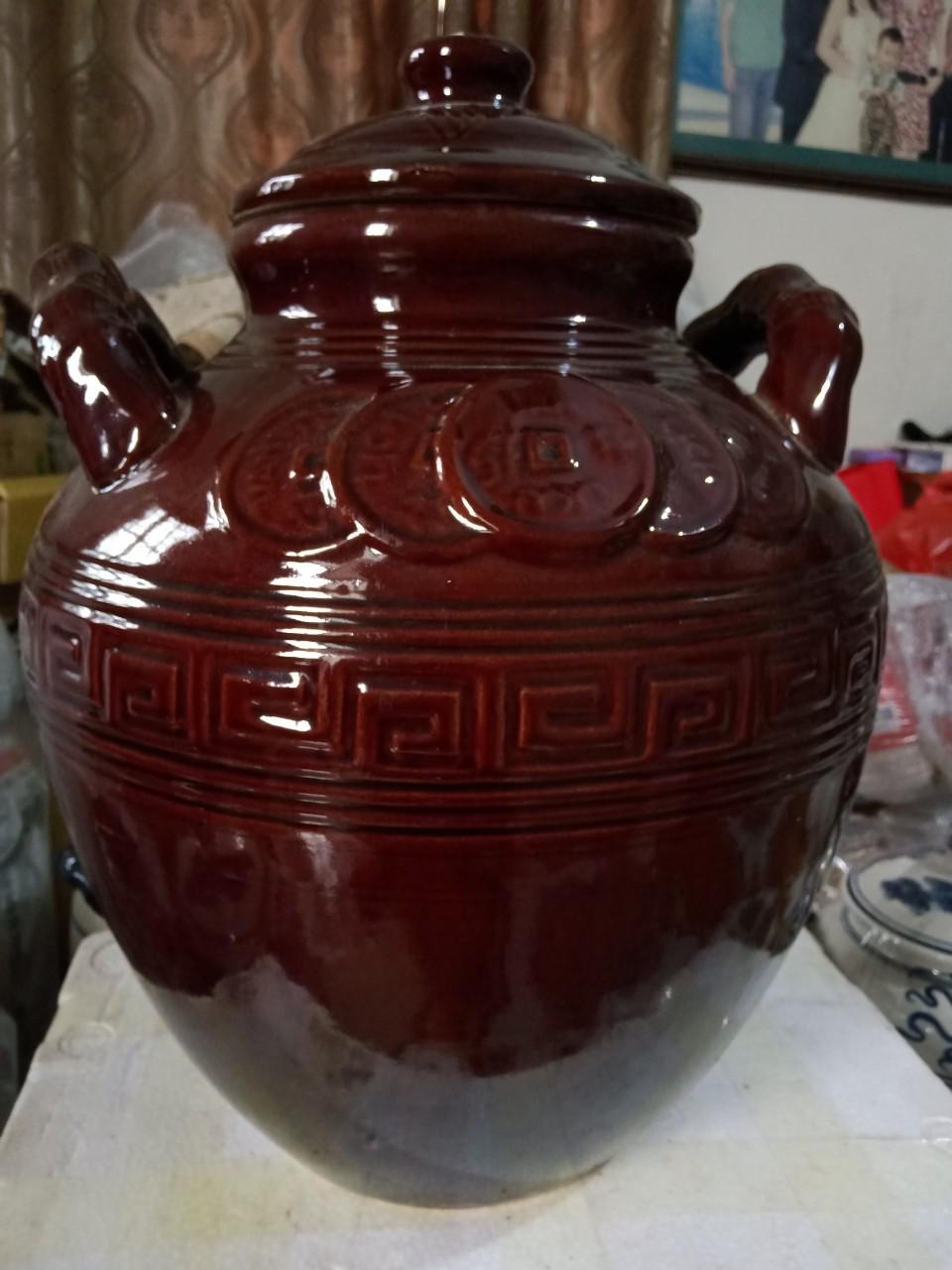 Chum đựng rượu gốm sứ Bát Tràng loại 20L