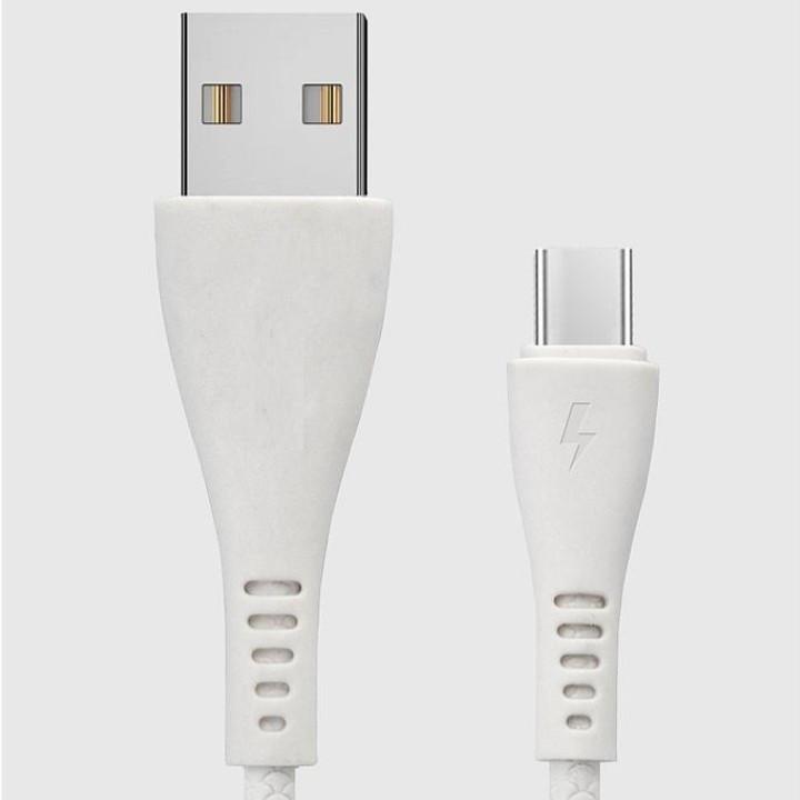 Cáp sạc USB Type C NK7 cao su đúc cho Samsung Galaxy, Huawei, Nokia hỗ trợ sạc nhanh
