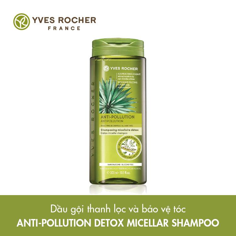Dầu Gội Thanh Lọc Và Bảo Vệ Tóc Yves Rocher Anti-Pollution Detox Micellar Shampoo 300ml