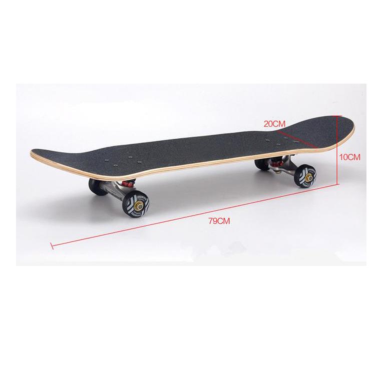 Hình ảnh Ván trượt Skateboard Bensai 14 dành cho trẻ em và người lớn trên 6 tuổi có thể chịu được trọng lượng lên đến 75kg