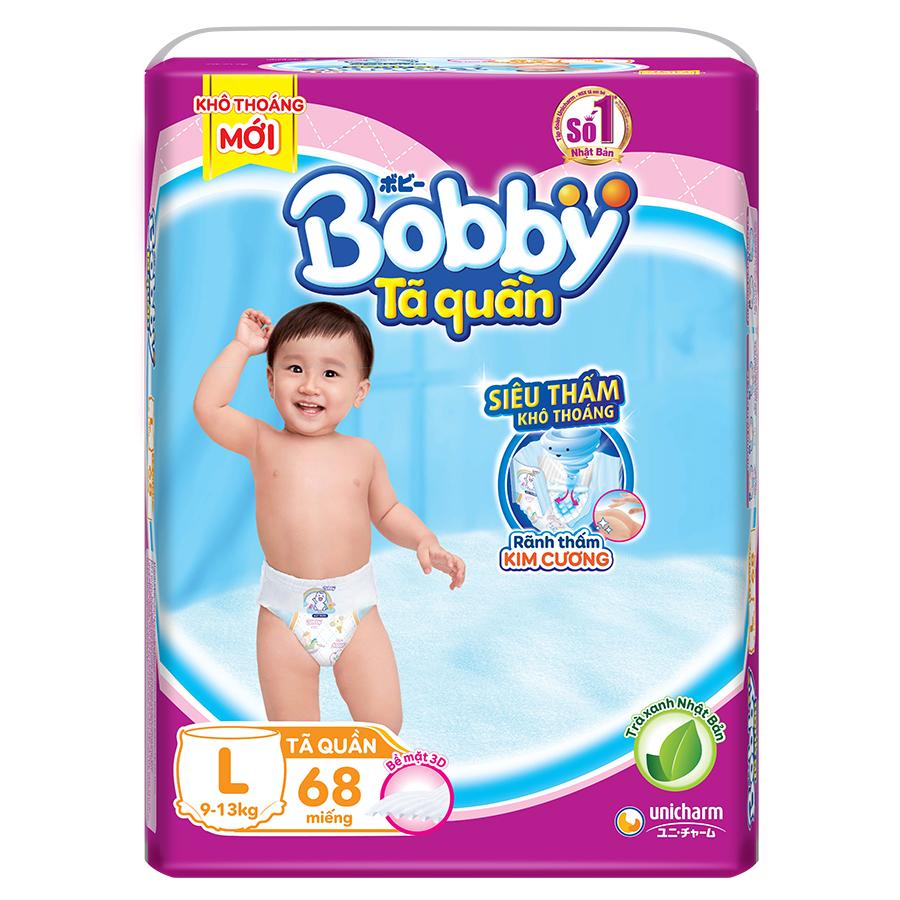 Tã Quần Bobby Ultra Jumbo Siêu Siêu Lớn L68 Size L - 68 Miếng