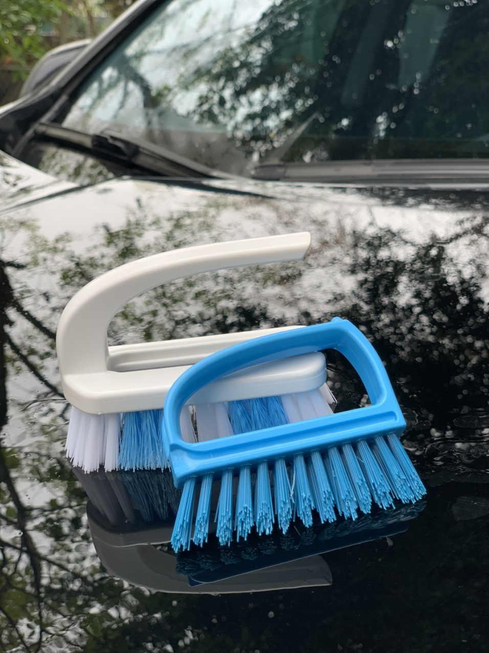 Combo 02 Bàn chải giặt quần áo có quai cầm tiện dụng - Nội địa Nhật Bản