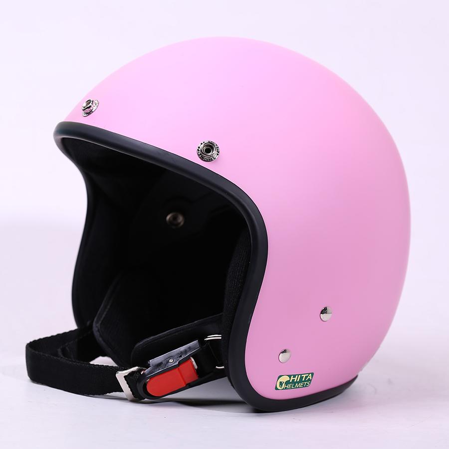 Mũ bảo hiểm CHITA 3/4 CT1 - Hồng nhạt sơn mờ
