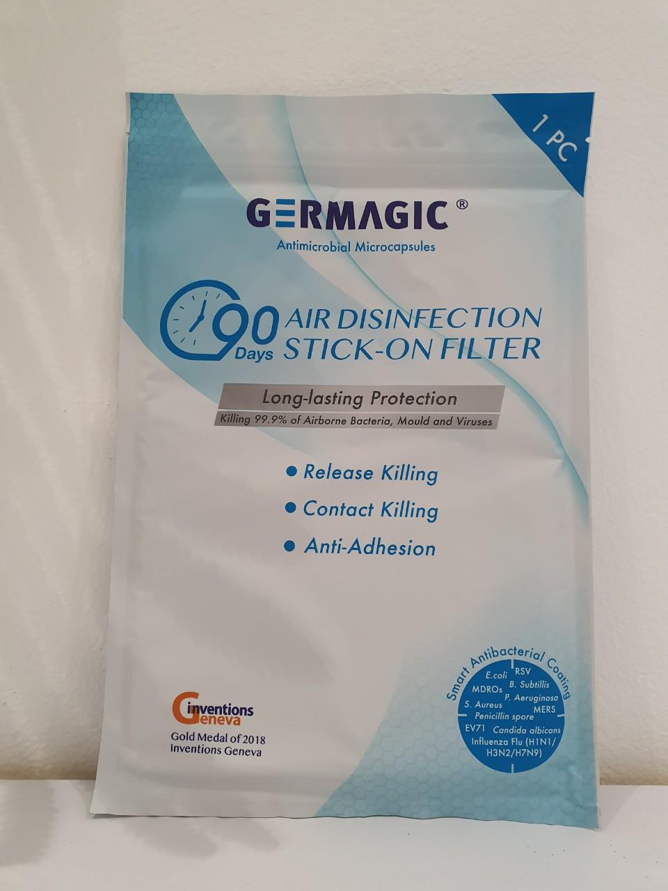 Giấy lọc diệt khuẩn đa năng Germagic - Tối ưu hiệu quả lên đến 90 ngày, diệt 99.9% virus, vi khuẩn và nấm mốc