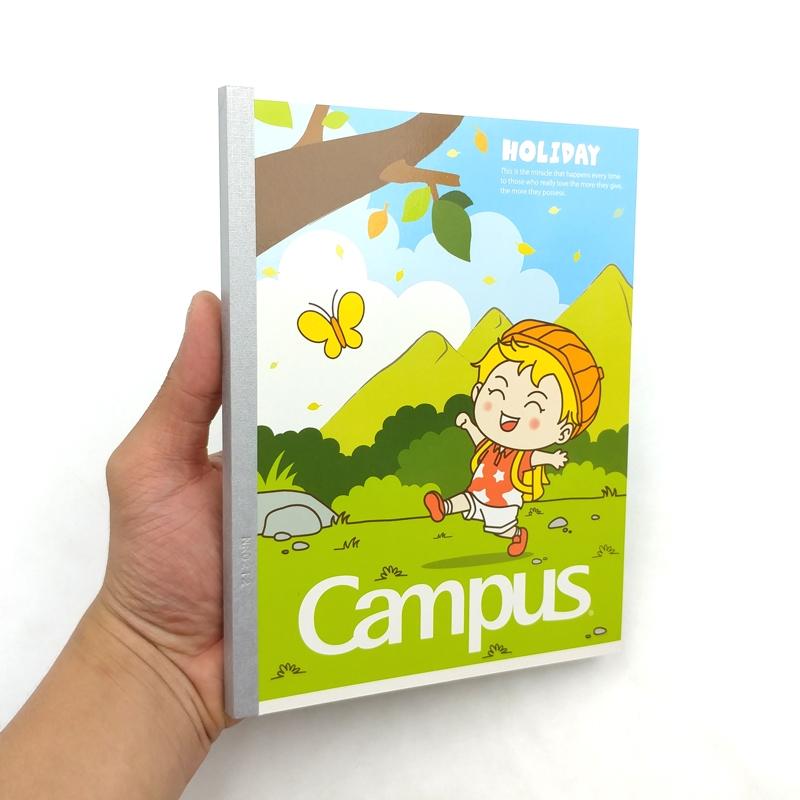 Vở Campus A5 5 Ô Ly (2 x 2 mm) 96 Trang ĐL 100 Holiday - Mẫu 2