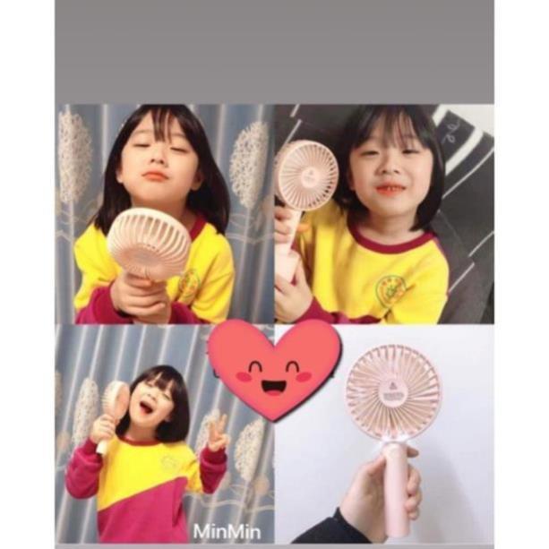 Quạt Tích điện Mini Jojo cầm tay, để bàn siêu bền siêu mát - Hàn Quốc