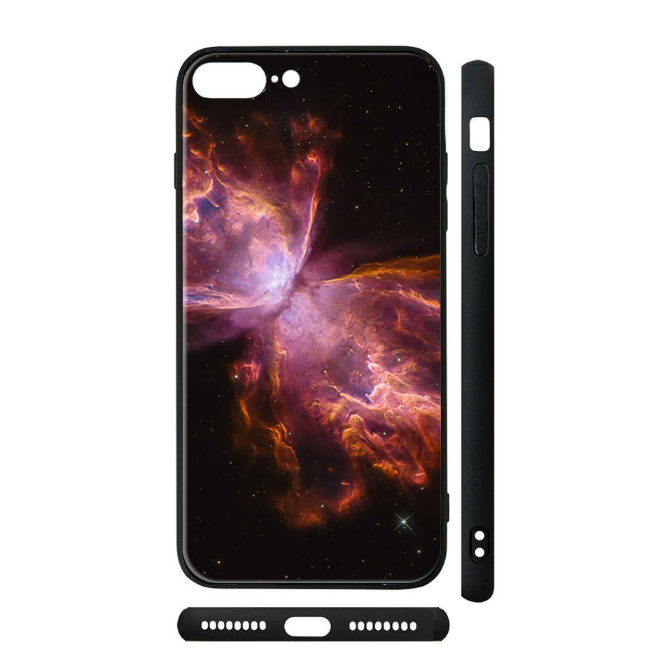 Ốp kính cho iPhone in hình Tinh vân Cánh bướm - vutr004 có đủ mã máy - iPhone 5 - 5s