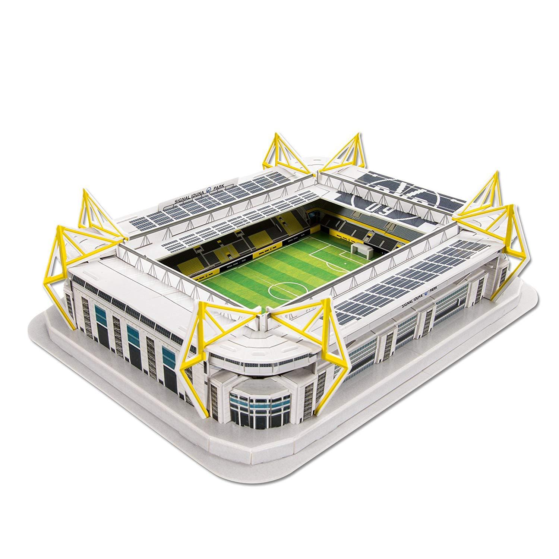 Đồ chơi lắp ráp Giấy 3D Mô hình Sân Vận Động Signal Iduna Park Dortmund Kèm đèn LED