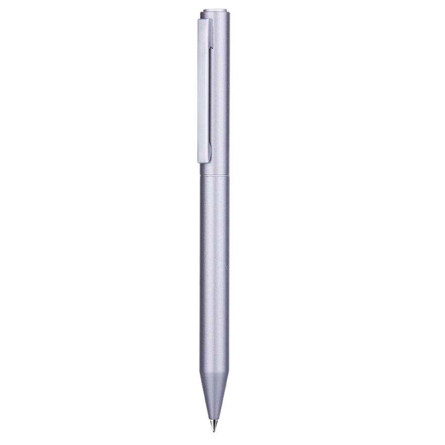 Cox 0.5mm silver rotating metal gel pen bullet black ink pen  pen  signature pen single  GPP009
