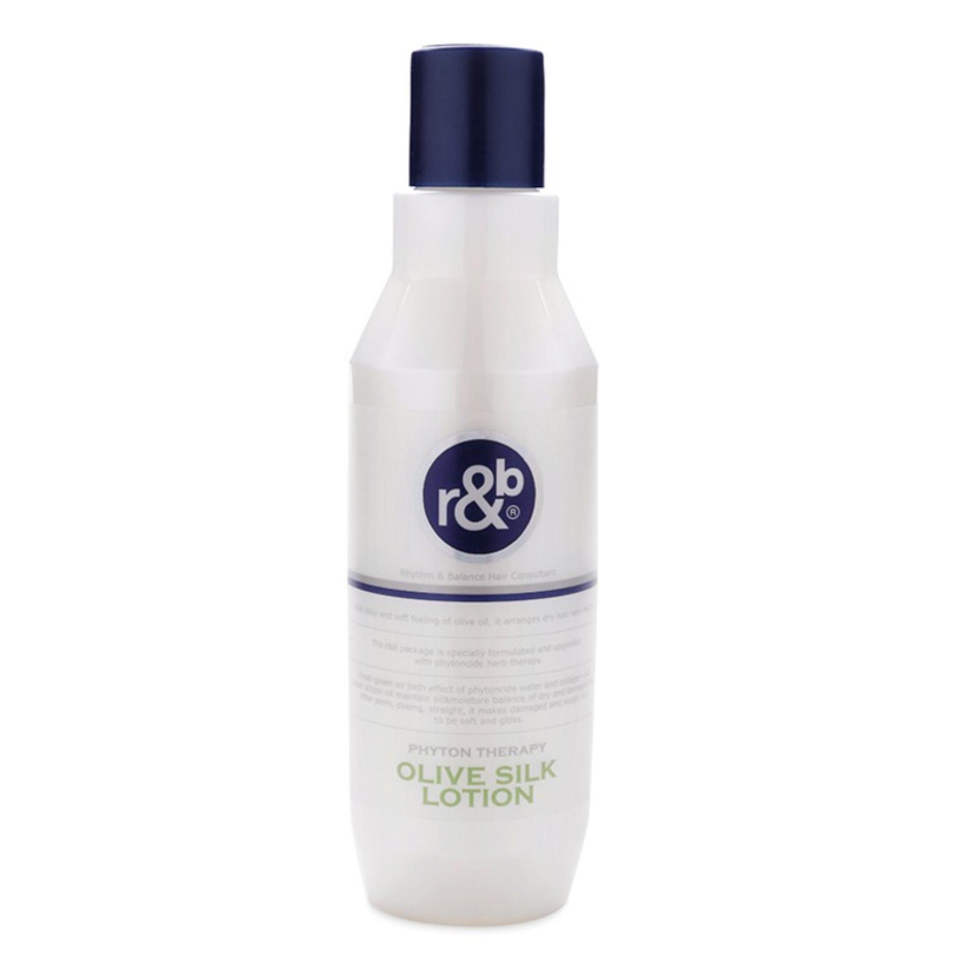 Kem dinh dưỡng bóng tóc dưỡng ẩm phục hồi tóc khô và giữ nếp tóc uốn R&B Olive Silk Lotion, Hàn Quốc 450ml