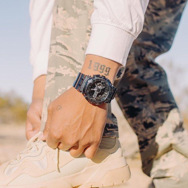Đồng hồ nam dây nhựa Casio G-Shock chính hãng GA-110SKE-8ADR (51mm)