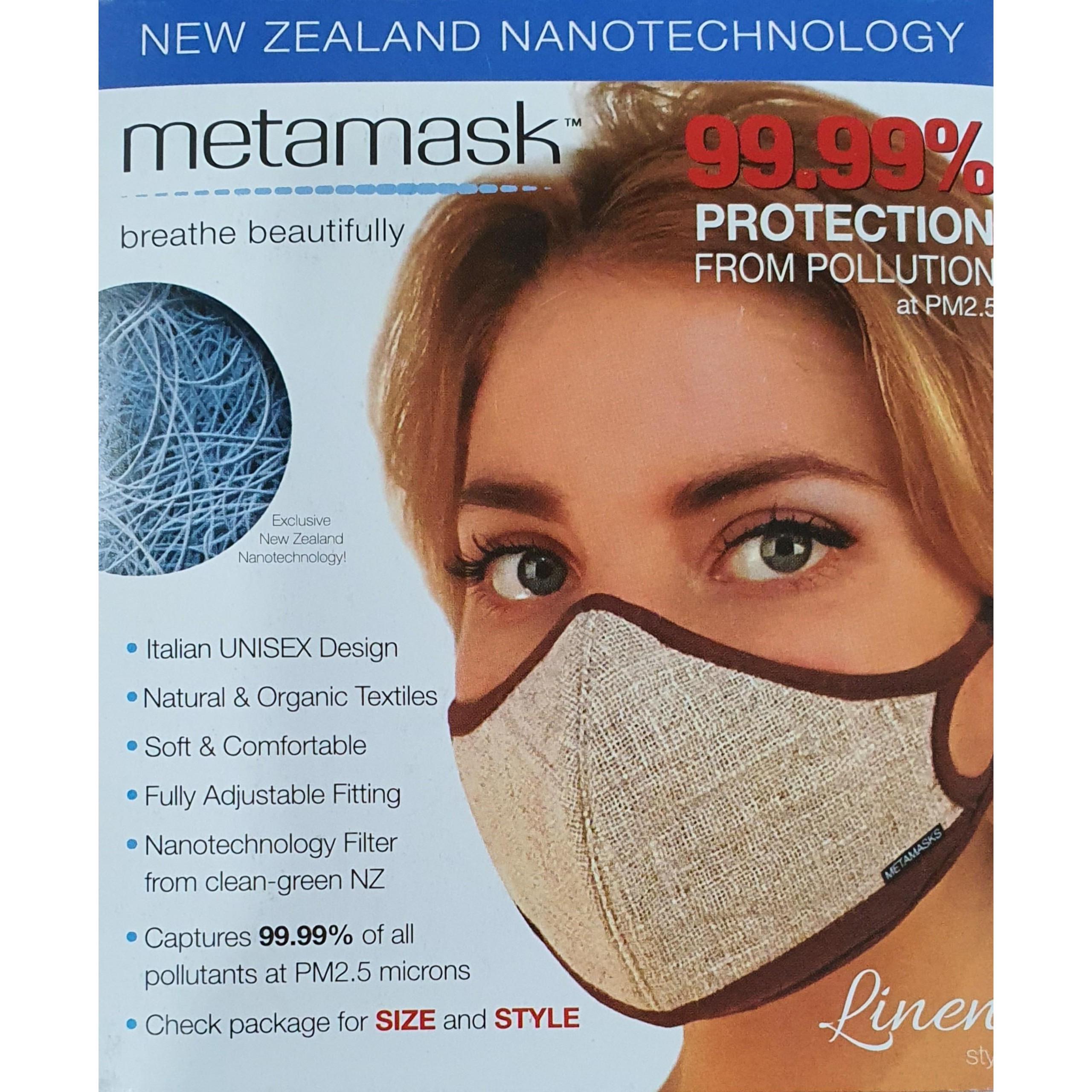 Khẩu Trang Cao Cấp Metamasks - Phòng chống hiệu quả Bụi Mịn Và Các Vi Khuẩn, Virus Có Hại  - L - Linen