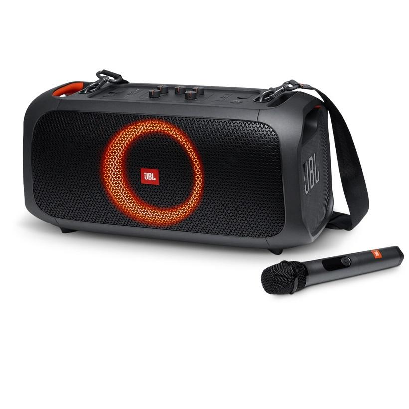Loa Bluetooth JBL PartyBox On The Go 100W (Tặng kèm 2 Micro không dây) - Hàng Chính Hãng