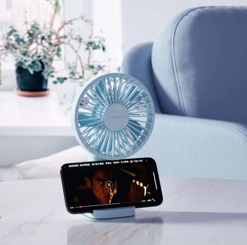 Quạt Thông Minh Mipow Flip Adjust Mini Fan MÀU XANH - CHÍNH HÃNG