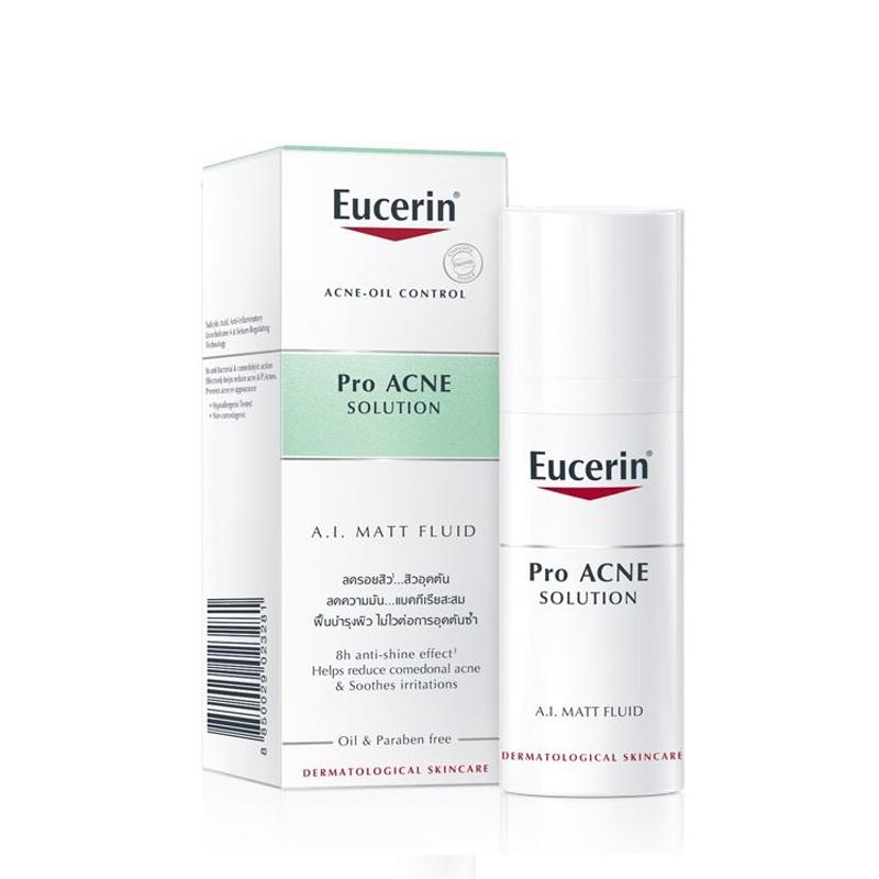 Kem Giúp Kiểm Soát Dầu, Giảm Mụn Eucerin ProAcne Solution Mattifying Fluid 50ml