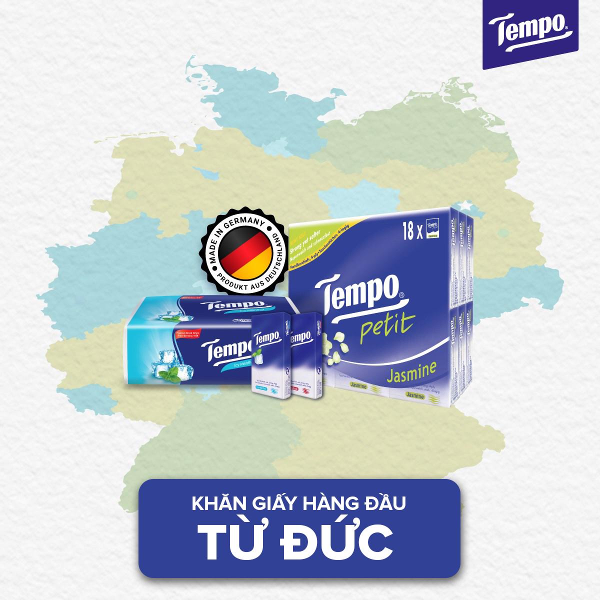 Combo 5 lốc Khăn giấy Tempo Petit Icy Menthol (Lốc 6 gói)