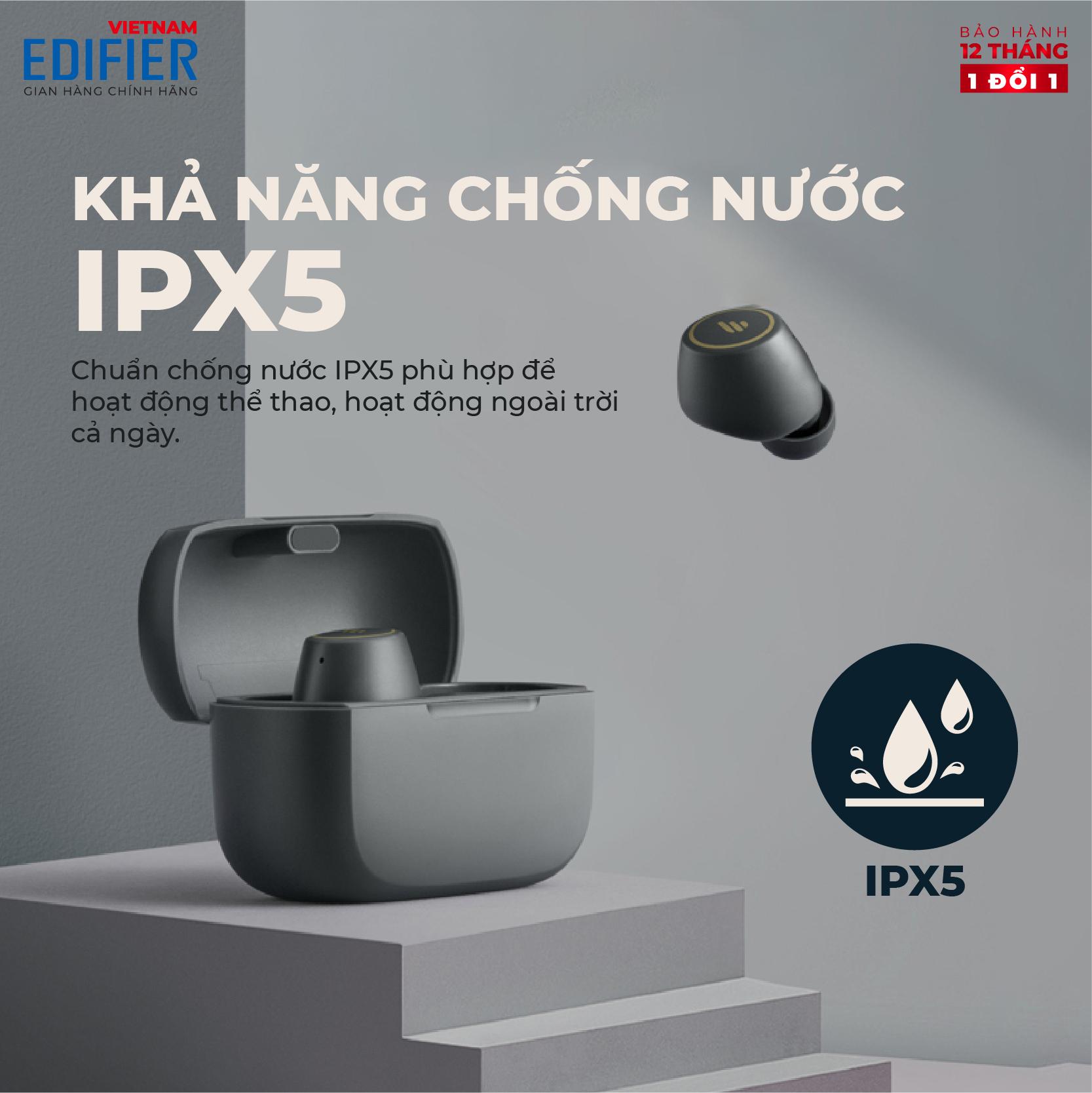 Tai nghe Bluetooth 5.2 EDIFIER TWS1 PRO True Wireless Chống nước IPX5 - Hàng chính hãng