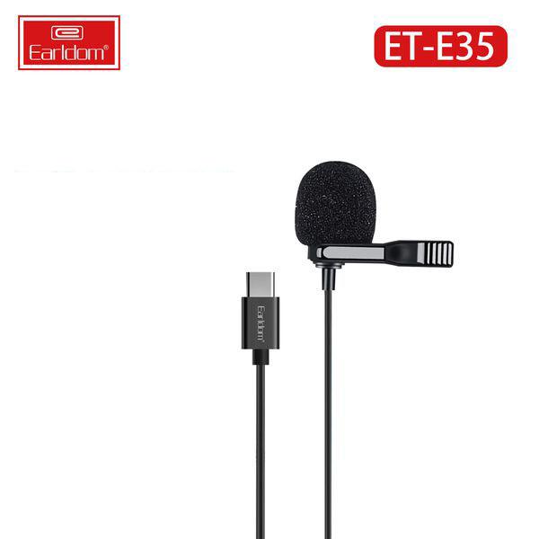 Mic Thu Âm Mini Cài Áo Chân Type C Dành Cho Điện Thoại Earldom ET-E35 - Hàng Chính Hãng