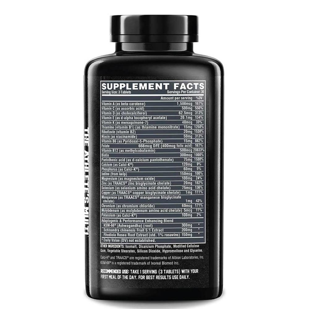 [Tặng Shaker] Vitamin Tổng Hợp Thể Thao Nutrex Vitadapt, Khoáng Chất Tổng Hợp, Sâm Ấn Độ (KSM-66 Ashwagandha), Chiết Xuất Cây Ngũ Vị Tử & Cây Rễ Vàng, 90 viên
