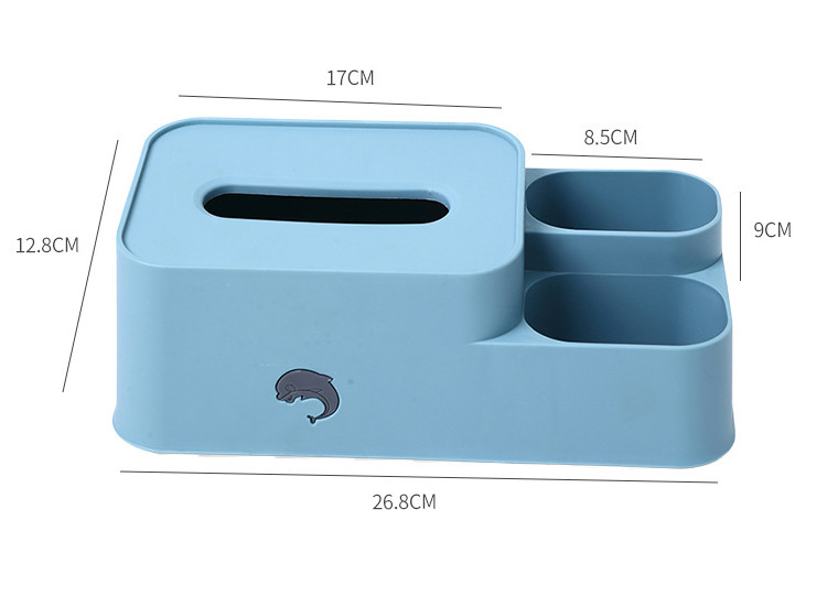 Hộp đựng khăn giấy để bàn có khay đựng đồ, cắm bút,cắm điều khiển vô cùng tiện lợi GD420-HopVP