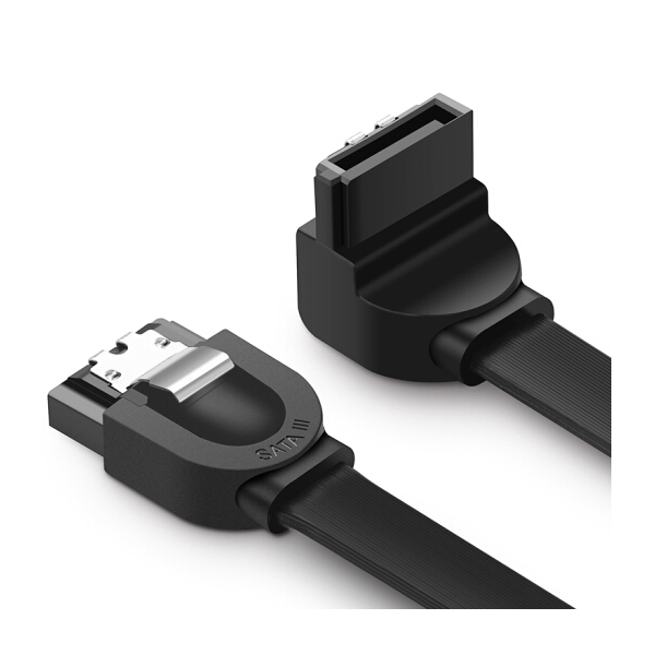 Cáp SATA 3.0 đầu bẻ góc 90 độ chính hãng Ugreen 20998