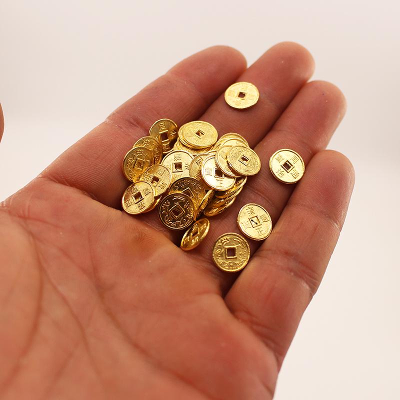 Bộ 03 tượng chú tiểu áo nâu - mẫu chú tiểu đứng size trung 13.5cm (tặng kèm 10 xu vàng mini trang trí)