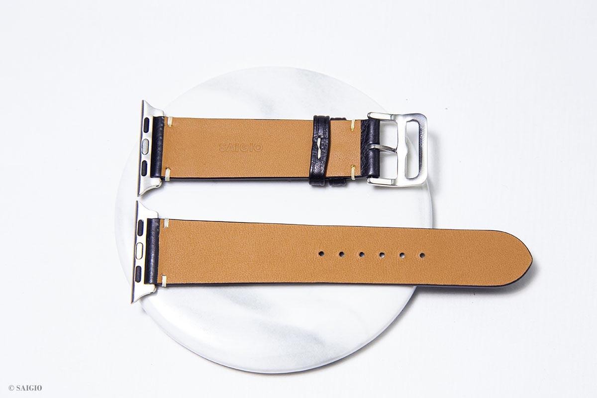 Dây Da Vintage Dành Cho Apple Watch 40mm 38mm, Chất Liệu Da Bò Thật 100%, Tương Thích Các Phiên Bản Series 6/5/4/3/2/1/SE - Hàng Chính Hãng SAIGIO